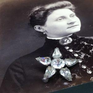 Vintage Rhinestone Star Brooch